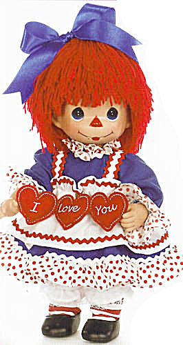 Precious Moments I Love You Raggedy Ann Doll With Hearts