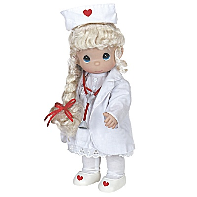 Precious Moments Loving Touch Blonde Nurse Doll, 2013