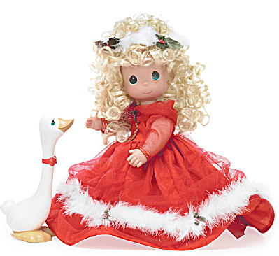 Precious Moments Songs of Christmas Joy Doll with Goose, 2010 (Image1)