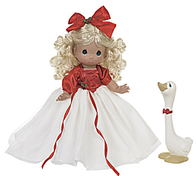 Precious Moments A Joyful Season Doll with Goose, 2013 (Image1)