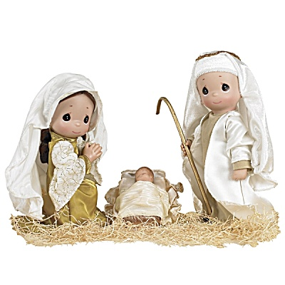 Precious Moments The First Christmas - Nativity 3 Doll Set 2012 (Image1)