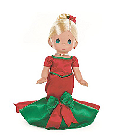 Precious Moments Blonde Dancing Into The Christmas Spirit Doll