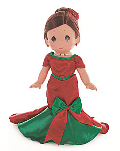 Precious Moments Brun. Dancing Into The Christmas Spirit Doll