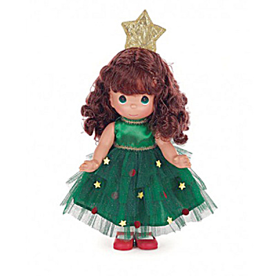 Precious Moments Brunette Tree-mendously Precious Doll