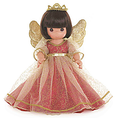 Precious Moments Brunette Christmas Memories Angel Doll 2014