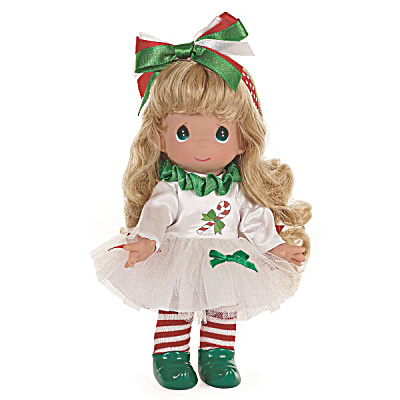 Precious Moments 9 In. Candy Cane Dreams Blonde Doll