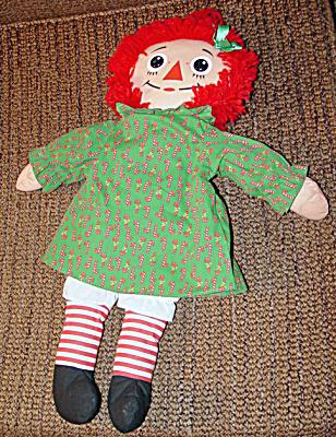 1988 Playskool 17-18 Inch Christmas Raggedy Ann Doll (Image1)