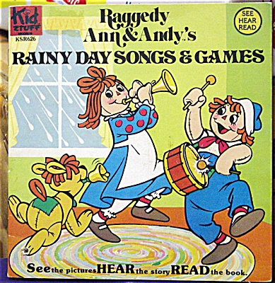 Raggedy Ann & Andy's Rainy Day Songs Coloring Book Set 1980