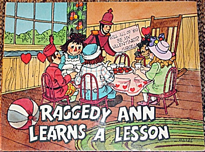 Raggedy Ann Learns a Lesson, Soft Cover Book 1979 (Image1)