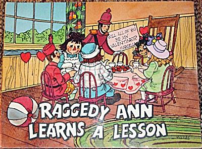 Raggedy Ann Learns a Lesson, Soft Cover Book 1979 (Image1)