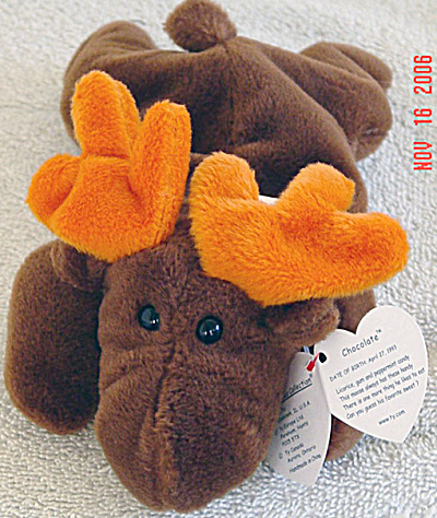Ty Chocolate The Moose Beanie Baby, 1994-1998