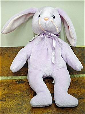 Ty Lavender Floppity Bunny Beanie Baby 1997-1998 (Image1)