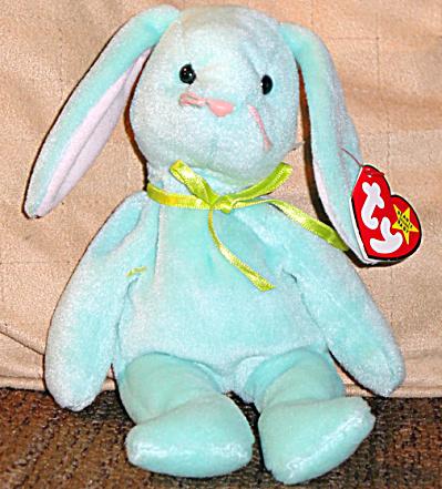 Ty Mint Green Hippity Bunny Beanie Baby 1997-1998 (Image1)