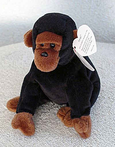 Ty Congo the Gorilla Beanie Baby 1996-98 (Image1)