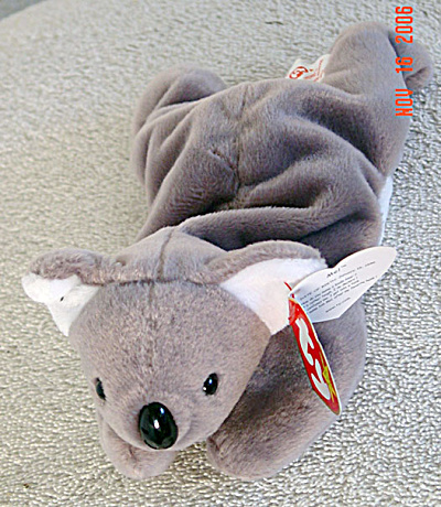 Ty Mel The Koala Bear Beanie Baby, 1997-1999