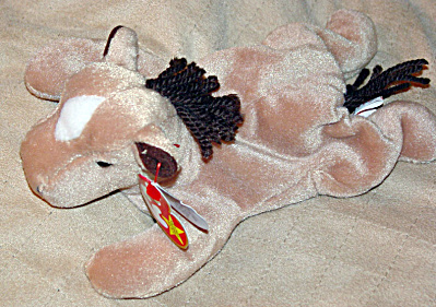 Ty Derby the Tan Horse with Coarse Mane Beanie Baby 1997-1998 (Image1)