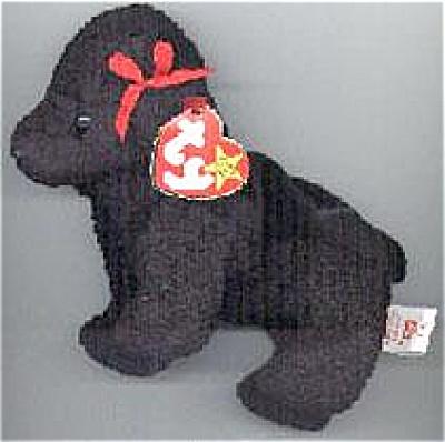 Ty Gigi the Black Poodle Beanie Baby, 1998-1999 (Image1)