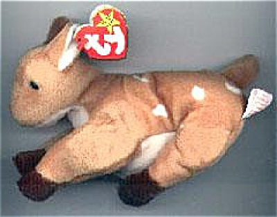 Ty Whisper the Deer Beanie Baby (Fawn) 1998-1999 (Image1)