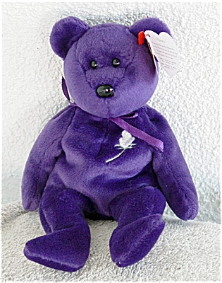 Ty Princess The Purple Bear Beanie Baby 1997
