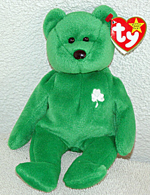 Ty Erin Emerald Green Irish Bear Beanie Baby 1998-1999 (Image1)