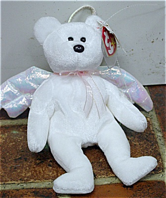 60345a9ac46 Ty Halo The White Angel Bear Beanie Baby
