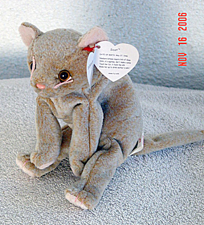 Ty Scat The Kitten Beanie Baby, 1999