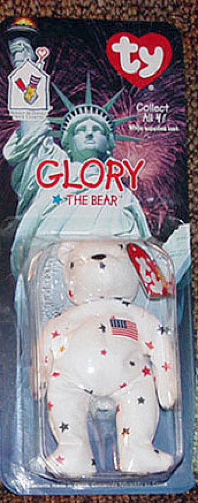 Ty Teenie Beanie Baby Glory U.S.A.  Bear, McDonald's 1999 (Image1)