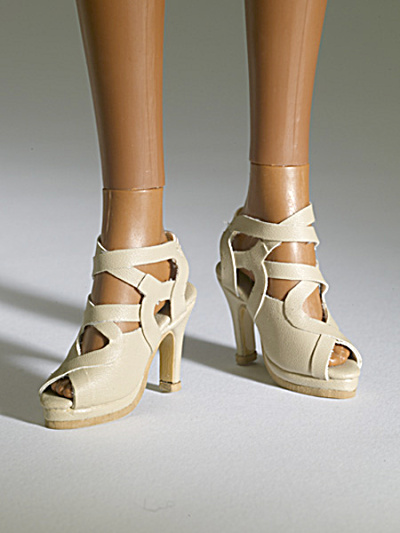 Tonner Nu Mood Beige Sandal High Heel 1 Doll Shoes 2012 (Image1)