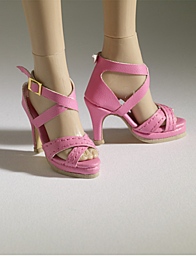 Tonner Nu Mood Pink Sandal High Heel 2 Doll Shoes 2012 (Image1)