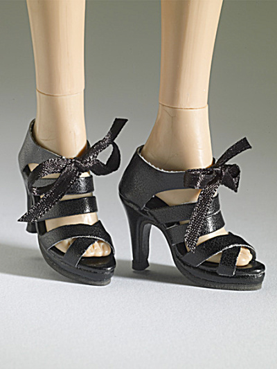 Tonner Nu Mood Black Sandal High Heel 3 Doll Shoes 2012 (Image1)