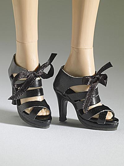 Tonner Nu Mood Black Sandal High Heel 3 Doll Shoes 2012 (Image1)