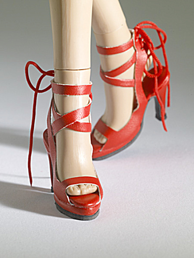 Tonner Nu Mood Red Sandal High Heel 4 Doll Shoes 2012 (Image1)