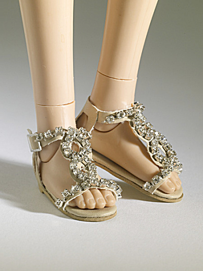 Tonner Nu Mood Beige, Rhinestone Flat 1 Doll Shoes 2012 (Image1)