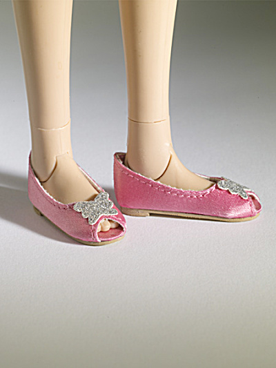 Tonner Nu Mood Pink Satin Ballet Flat 3 Doll Shoes 2012 (Image1)