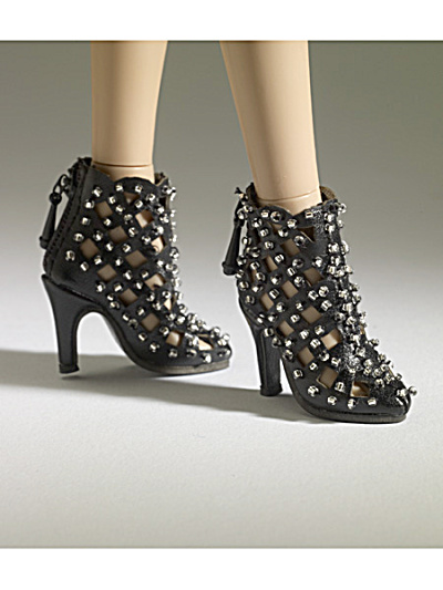 Tonner Nu Mood Black Ankle Boot 1 Doll Shoes 2012 (Image1)