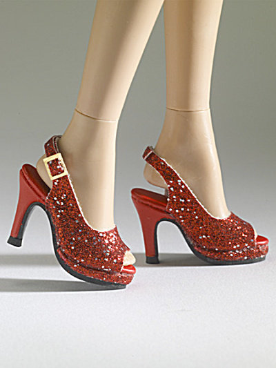 Tonner Nu Mood Red Sparkle High Heel 8 Doll Shoes 2012 (Image1)