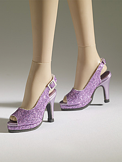 Tonner Nu Mood Purple Sparkle High Heel 9 Doll Shoes 2012 (Image1)