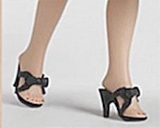 Tonner Black 10.5 In. Revlon Doll High Heel Shoes, 2012 (Image1)