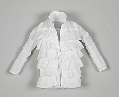Tonner Ruffled Cotton Coat for 16 In. Wentworth Fashion Dolls (Image1)