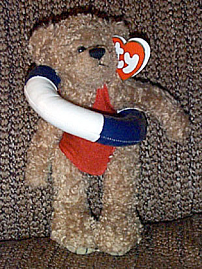 Ty Attic Plush Allura Bear with Innertube 1999-2000 (Image1)