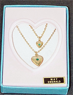 Vogue Ginny Doll and Girl May Emerald Necklaces 1993 (Image1)