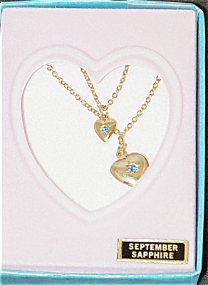 Vogue Ginny Doll and Girl September Sapphire Necklaces 1993 (Image1)