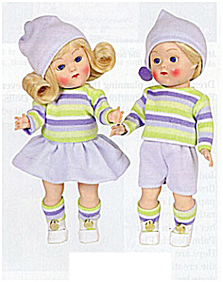 Vogue Vintage Binky and Bunky Repro Dolls in Blue 2004 (Image1)