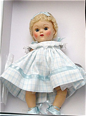 Vogue Blue Dimity Crib Crowd Vintage Repro Ginny Doll 2004 (Image1)