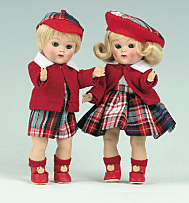 Vogue Blonde Steve and Eve Vintage Reproduction Ginny Dolls (Image1)