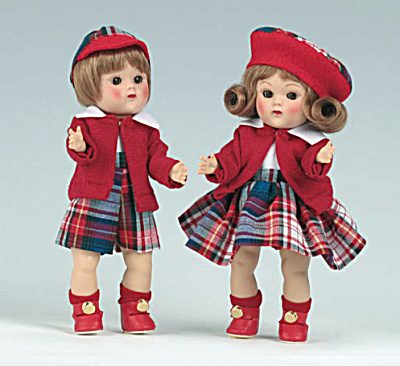 Vogue Brunette Steve and Eve Vintage Repro Ginny Dolls (Image1)