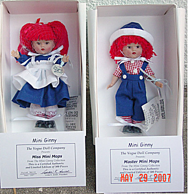2007 Vogue Miss Mini Mops And Master Mini Mops Ginny Dolls