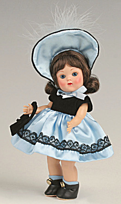 Vogue Doll Blue Satin Ginny Vintage Repro Doll Club Kit 08 (Image1)