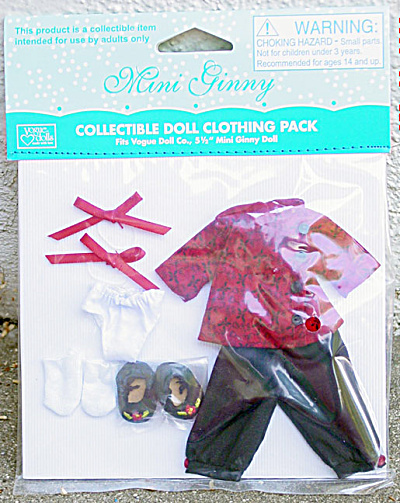 Vogue Mini Ginny Doll Chinese Pajamas Outfit Only 2009 (Image1)