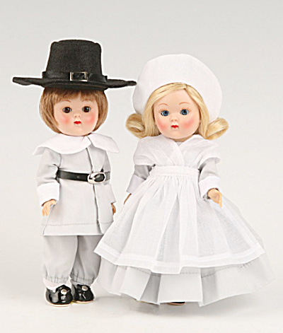Vogue John Alden And Priscilla Ginny Vintage Repro Dolls 2009
